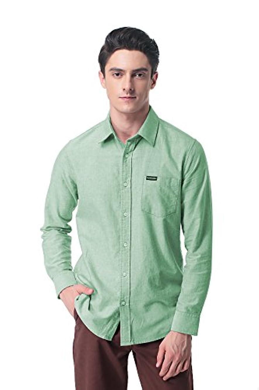 ペイント外向き言うまでもなくPau1Hami1ton P-09 メンズ オックスフォード シャツ カジュアル ワイシャツ 無地 ビジネス カジュアルシャツ 大きいサイズ