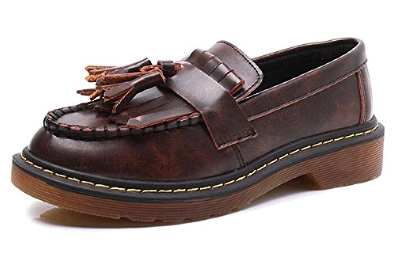 (ピピシダ)PPXID  レディーズローファーシューズ マニシュシューズ  ぺたんこ靴 フリンジローファー スリッポン フォーマル スクール 限定モデル   ブラウン 26cm