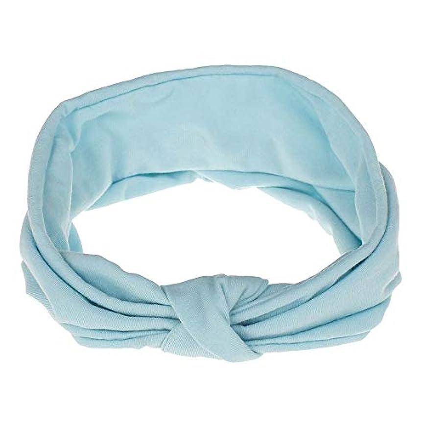 願望必要としている臭いファッションやスポーツのための女性ヘッドバンドターバンHeadwrapsヘアバンドアクセサリー (Color : Blue)