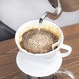カリタ Kalita コーヒーフィルター ホワイト 2~4人用 NK102濾紙 100枚入り×2個セット 画像