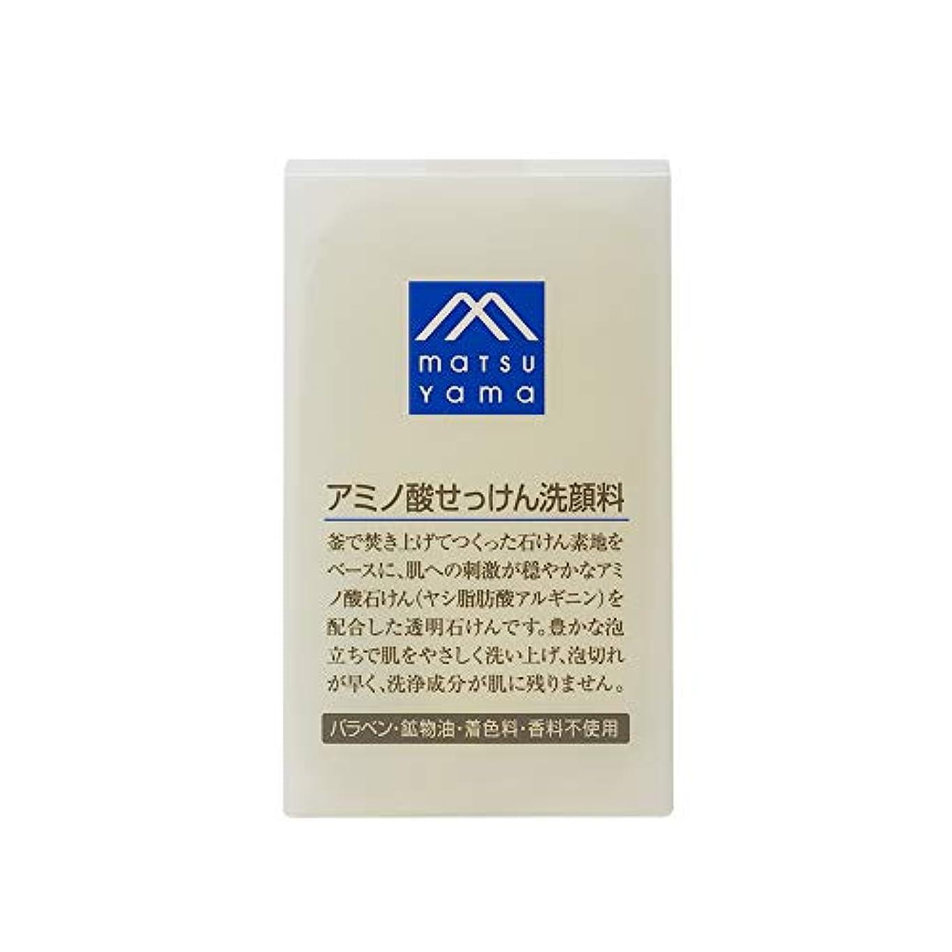 バーベキュー普通の拍車Mマーク(M-mark) アミノ酸せっけん洗顔料 90g