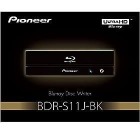 Pioneer パイオニア Ultra HD Blu-ray UHDBD再生対応 BD-R 16倍速書込み BD/DVD/CDライター ピアノブラック BDR-S11J-BK
