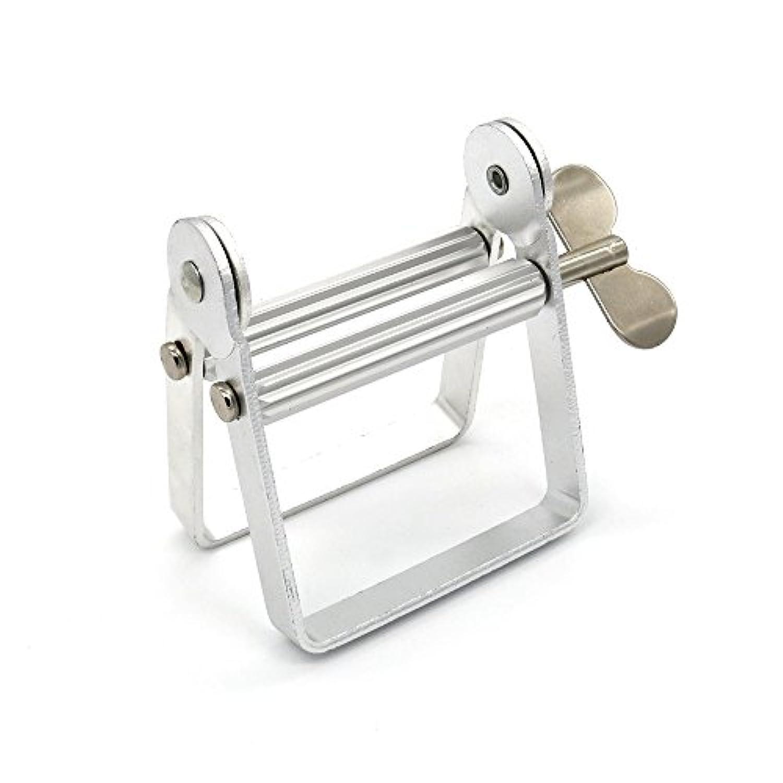 JEMISUN チューブ絞り器 軟膏押出器 アルミ製 歯磨き粉 白髪染めハンドクリーム(シルバー)