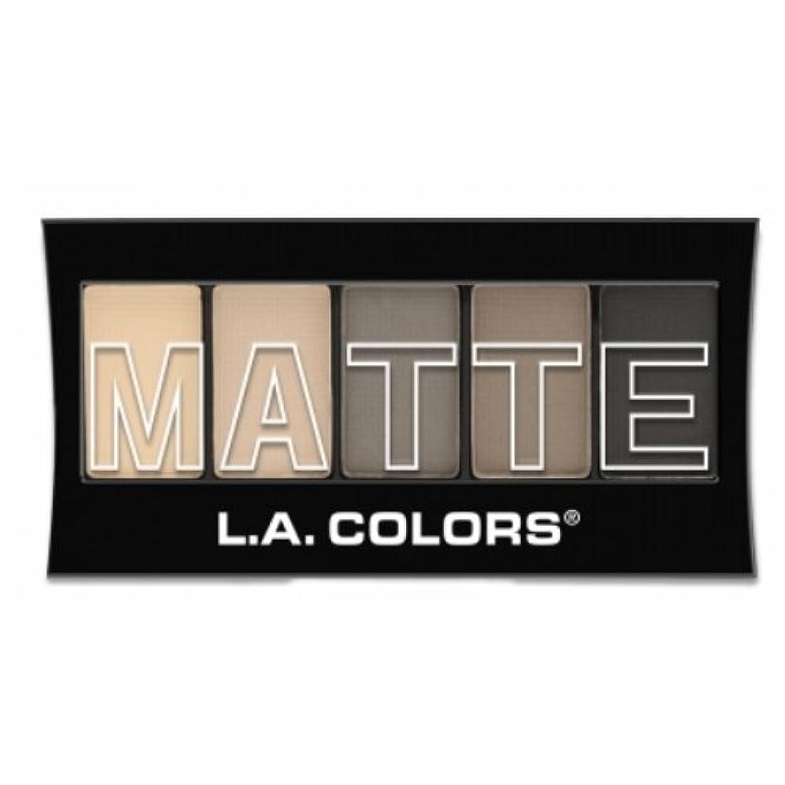 障害ハミングバード栄光(3 Pack) L.A. Colors Matte Eyeshadow - Nude Suede (並行輸入品)