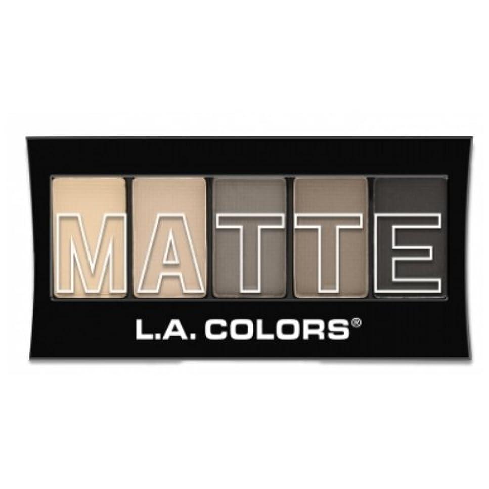 乱用出発する生じる(3 Pack) L.A. Colors Matte Eyeshadow - Nude Suede (並行輸入品)