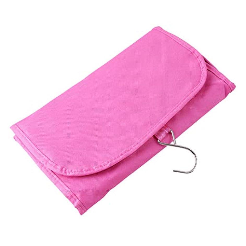 首謀者置換奨励しますGOMYIE ハンギングコスメティックバッグ化粧品メイクアップトラベル収納袋男女兼用ソリッドフック付き(ローズレッド)