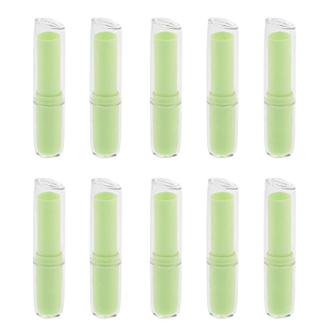 名誉乙女原子Injoyo 口紅チューブ リップクリーム容器 口紅容器 リップスティック コンテナ プラスチック材質 約10個 全6色 - 緑
