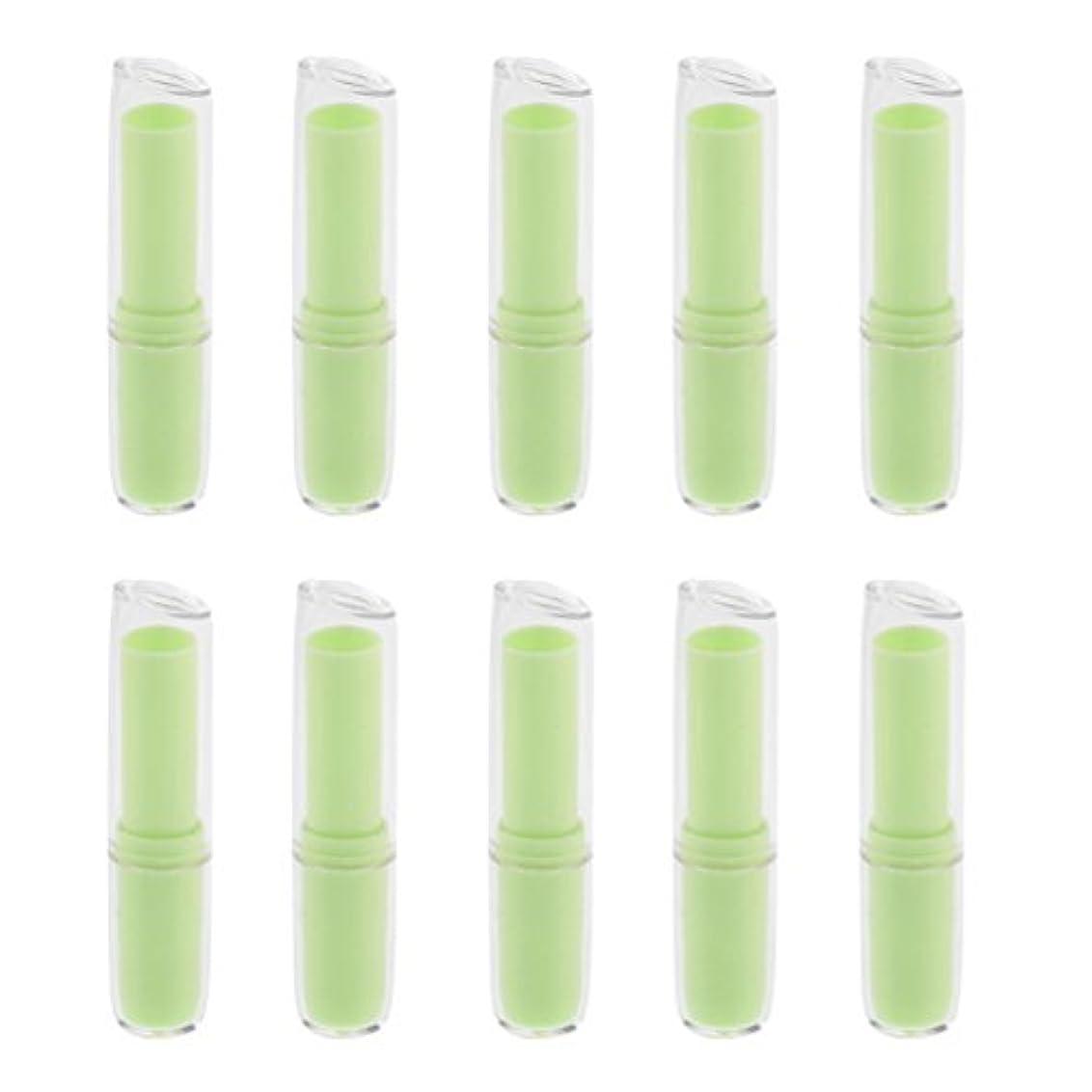 美しい否定するポルティコInjoyo 口紅チューブ リップクリーム容器 口紅容器 リップスティック コンテナ プラスチック材質 約10個 全6色 - 緑