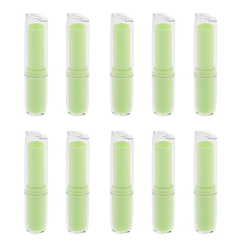 爪チート証言するInjoyo 口紅チューブ リップクリーム容器 口紅容器 リップスティック コンテナ プラスチック材質 約10個 全6色 - 緑
