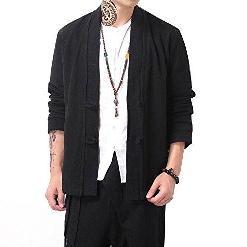 [해외](디 - 라이크) G-like 중화 풍 남성 민족 중식 거사 唐? 차 의류 고대 한나라 의류 카디건 재킷 코트/(ジ - like) G - like Chinese style men `s ethnicity middle - aged lady Tang Dynasty Tea suit Ancient Chinese clothing cardigan jacket co...