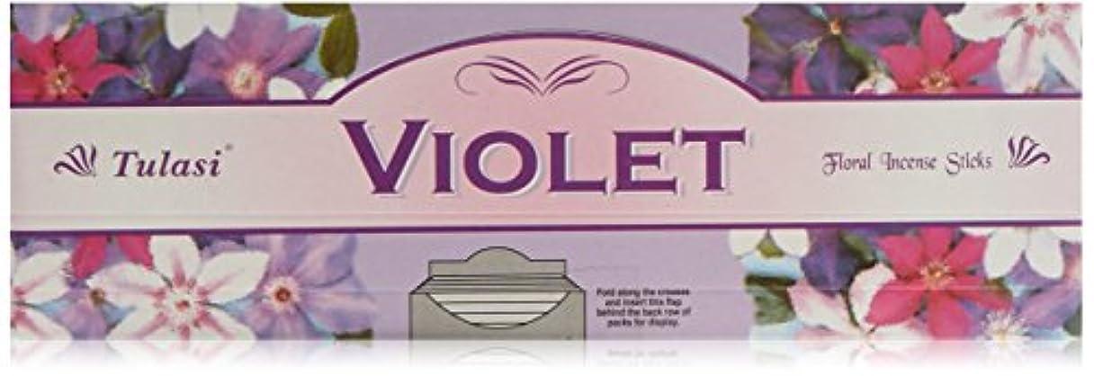拡張劣る人質Tulasi バイオレット香料 8本入り x 25パック