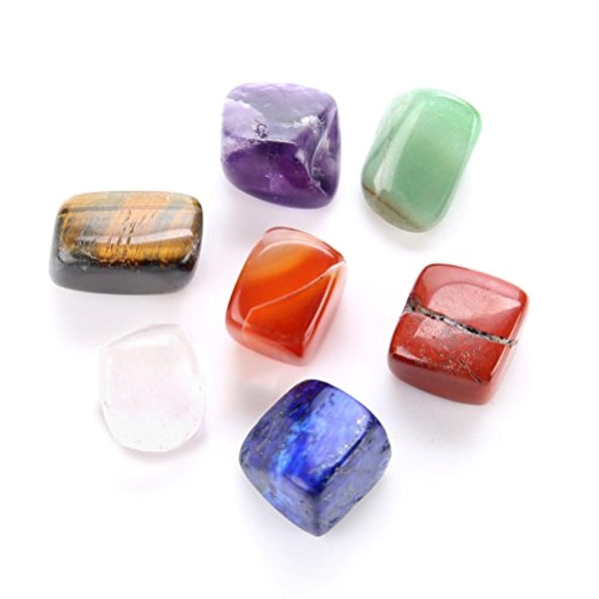 ROSENICE 癒しのクリスタル7チャクラの宝石と心配の石を接地するためにバランスをとる瞑想レイキ