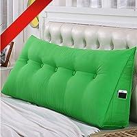 布張り 三角 形 枕 ウェッジクッション ヘッドボード 読ん 枕 背もたれ 枕 測位サポート 抱き枕クッション ソファ ベッド 読書用クッション洗える-l 180x50x20cm(71x20x8inch)