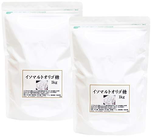自然健康社 イソマルトオリゴ糖 1kg×2個 チャック付袋入り