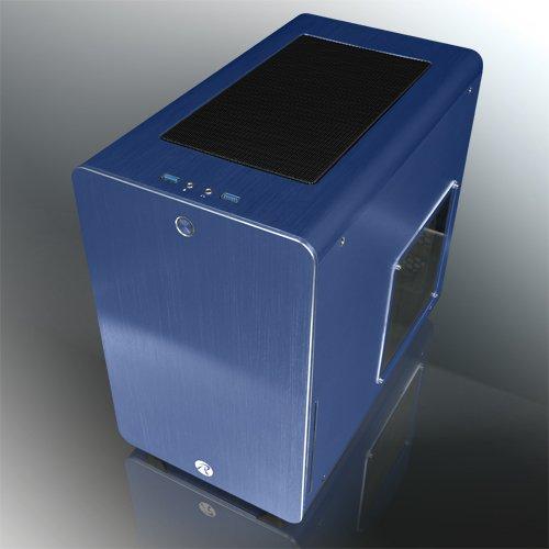 RAIJINTEK 外装にアルミニウムを採用したμATX規格マザーボード対応のキューブ型PCケース 0R200028(STYX BLUE)