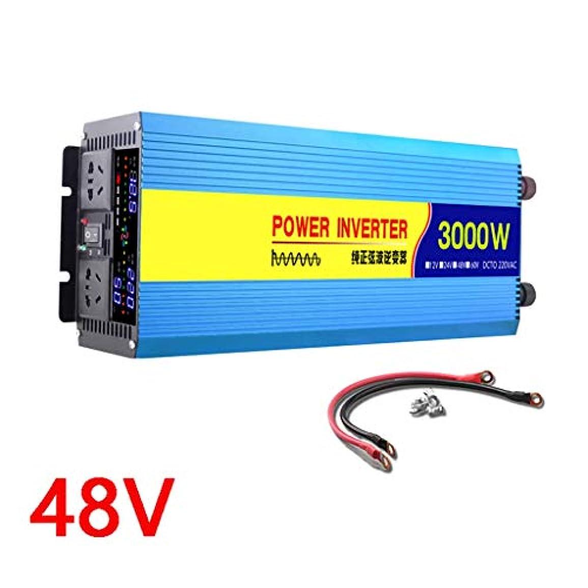 謝る綺麗な人種車載電源インバーター1000W / 1500W、DCからAC 12V / 24V / 48Vから220V-240V、2000W / 3000Wピーク電力、USB充電ポートとACアウトレット、自動車用電圧コンバーター