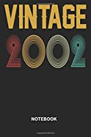 Vintage 2002 Notebook: Blank Lined Notebook – Journal for 17 years old Birthday Gift Idea
