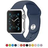 Apple Watch バンド アップルウォッチ iSTYLE® 42mm Apple watchベルト スポーツバンド ソフト 高級感 シリコーン 製 交換ベルト