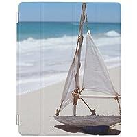 Recaso(レカソ)砂浜のおもちゃの帆ボート iPad Pro 10.5ケース スタンド機能 三つ折タイプ 全面保護型 背面の透明ケース 保護カバー Pad Pro10.6用 TPU素材