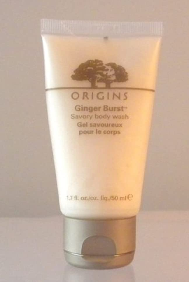 場所類推溶けるOrigins Ginger Burst Savory Body Wash 1.7 Fl.oz/ 50 Ml by Origins