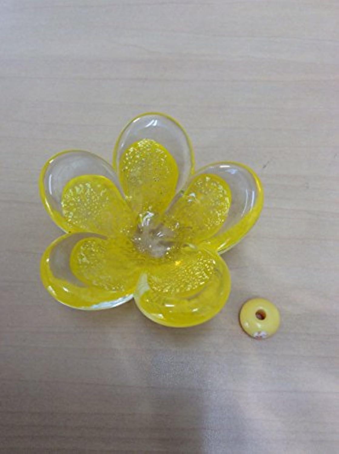 ベースシネウィ吐き出すガラスのお香立てセット 華香台(山吹) 【HK-16】