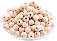 Mamimami Home Wooden Beads Maple 0.5 inch (12 mm) / 100 Pieces Wooden Beads DIY Parts, Handmade Gift Parts, Ma