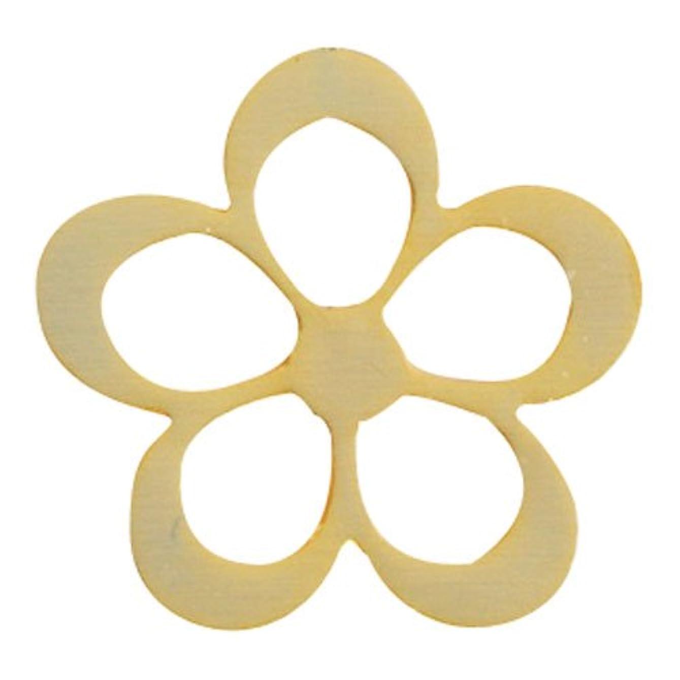 いちゃつく北方風味リトルプリティー ネイルアートパーツ シャイニーフラワー L ゴールド 10個