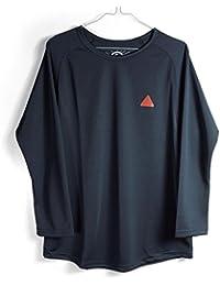 FRANK MFG FK-004-02 3/4-Sleeve ブラック/グレー/ブラック&グレー (Lサイズ, ブラック)