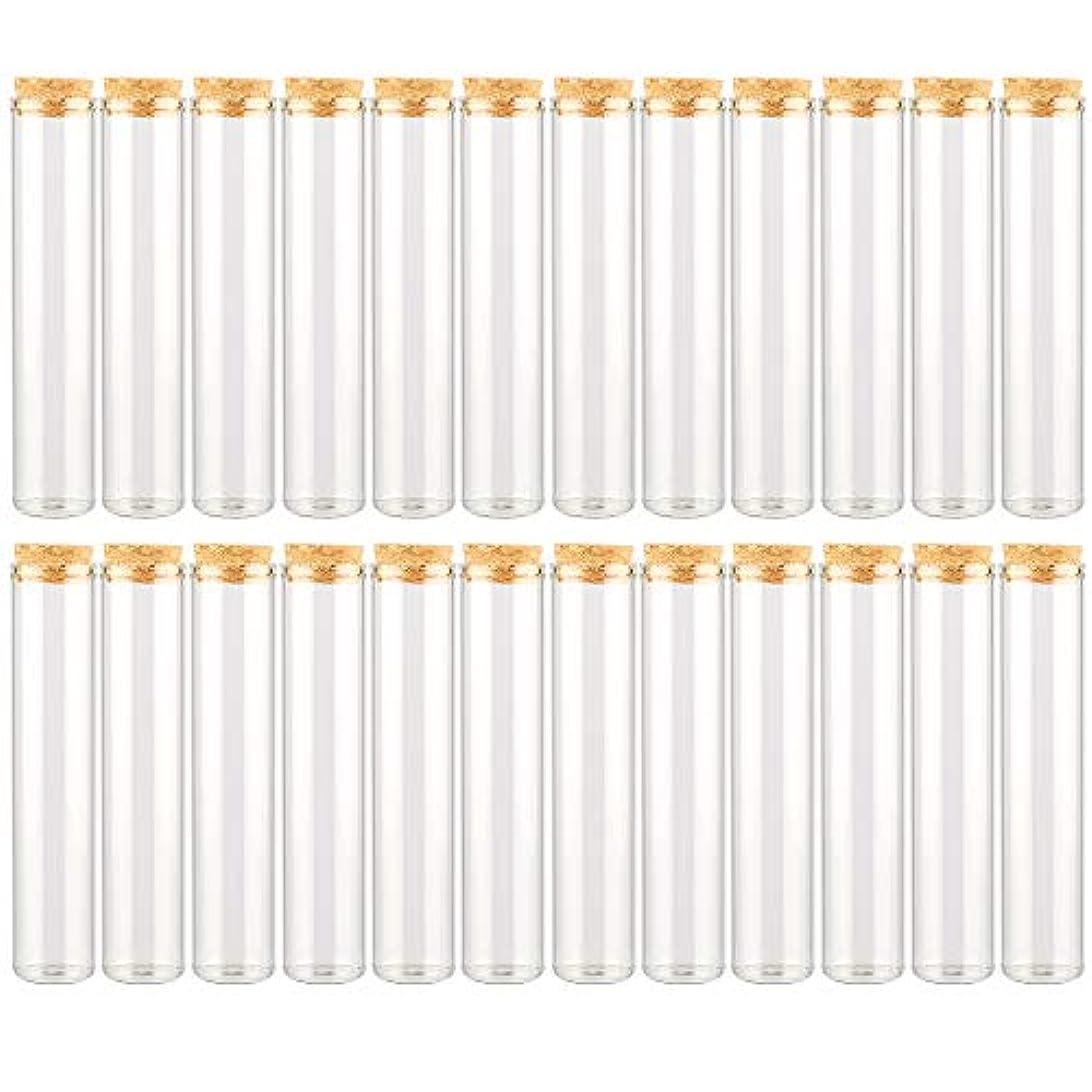 ハンバーガー葉巻カリキュラムEC Labmouse シンプル ガラス瓶 コルク栓 24本セット 30ml 透明 ガラス製 アロマオイル 香水 花材 ビーズ 調味料 試験管 (30ml 24本)