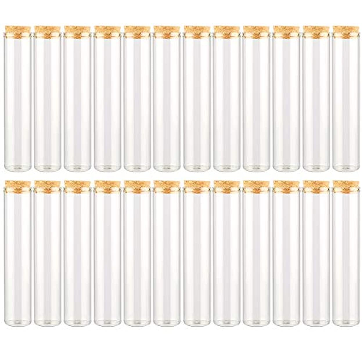 に対応する答えペダルEC Labmouse シンプル ガラス瓶 コルク栓 24本セット 30ml 透明 ガラス製 アロマオイル 香水 花材 ビーズ 調味料 試験管 (30ml 24本)