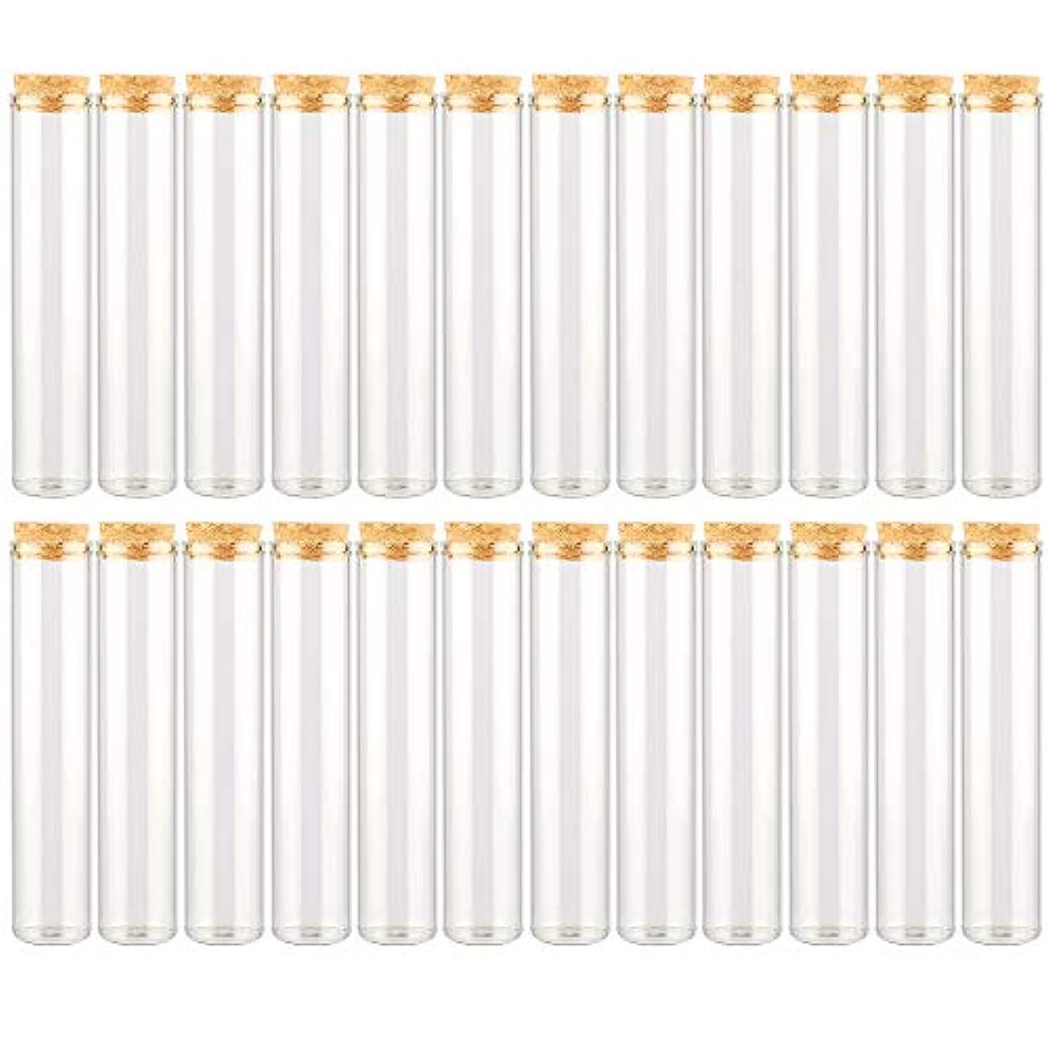 センチメンタル謝罪ペットEC Labmouse シンプル ガラス瓶 コルク栓 24本セット 30ml 透明 ガラス製 アロマオイル 香水 花材 ビーズ 調味料 試験管 (30ml 24本)