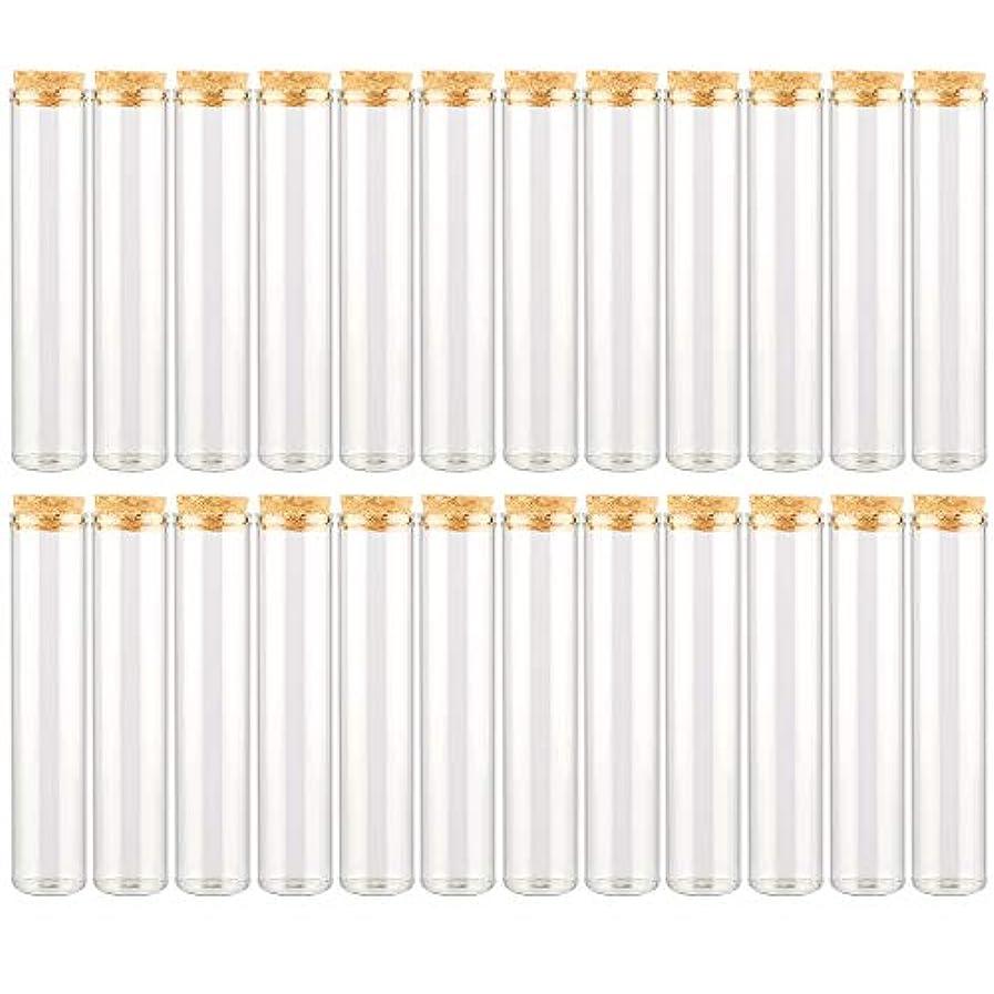 灰七時半弱点EC Labmouse シンプル ガラス瓶 コルク栓 24本セット 30ml 透明 ガラス製 アロマオイル 香水 花材 ビーズ 調味料 試験管 (30ml 24本)