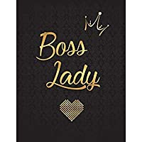 Boss Lady: Lined Journal (Notebook Diary) with 110 Inspirational Quotes Gold Lettering Cover XL 8.5x11 Black Soft Cover Matte Finish Journal for Women (Journals to Write In)【洋書】 [並行輸入品]
