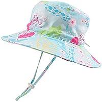 JANGANNSA Summer Sun Hat for Baby Boys Outdoor Toddler Girls Bucket Hat Wide Brim Adjustable Kids Beach Cap