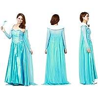 f387507a5d812 アナと雪の女王 エルサ 風 ドレス コスチューム レディース Lサイズ 大人用 衣装 仮装