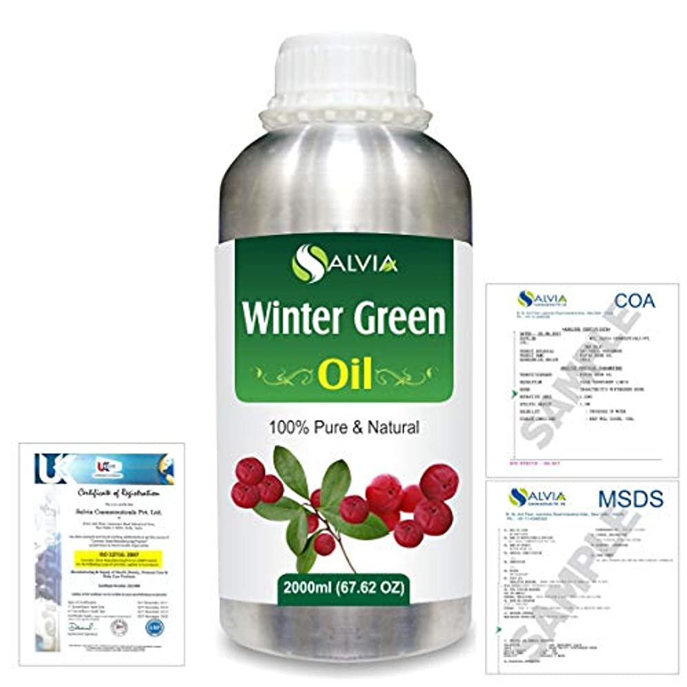 Winter Green(Gaultheria Procumbens) 100% Natural Pure Essential Oil 2000ml/67 fl.oz.