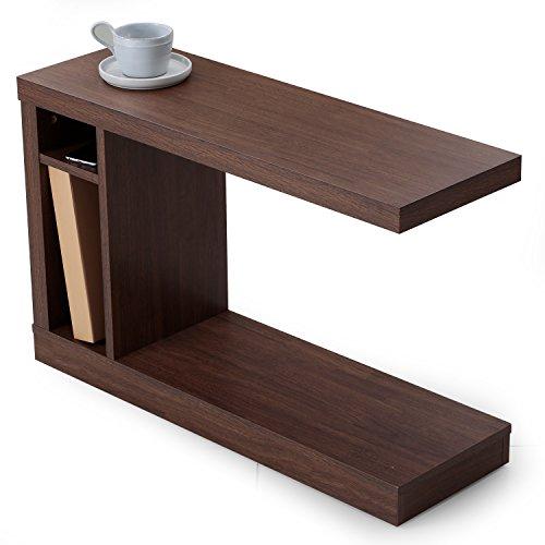 LOWYA (ロウヤ) サイドテーブル テーブル ソファテーブル 隠しキャス...