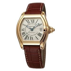 [カルティエ]Cartier 腕時計 ロードスター 18Kイエローゴールド 茶革 自動巻き メンズ W62005V2 メンズ 【並行輸入品】
