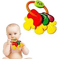 おもちゃCubbyカラフルTeething幼児用Rattleキーセット
