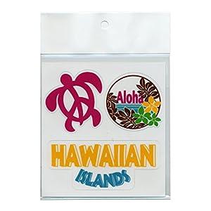 LISALISA ハワイアン ステッカー アイランド 3 カット