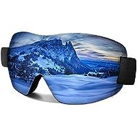 AYORI スキーゴーグル スノーゴーグル UV400カード 軽量スノボ 耐衝撃 防塵 防風 目が疲れにくい 登山 バイク アウトドア適用 男女兼用