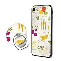 野菜iPhone 7/8 ケース リング付き 人気 スタンド機能 ソフト 薄い 携帯カバー アイフォン 7/8 ケース