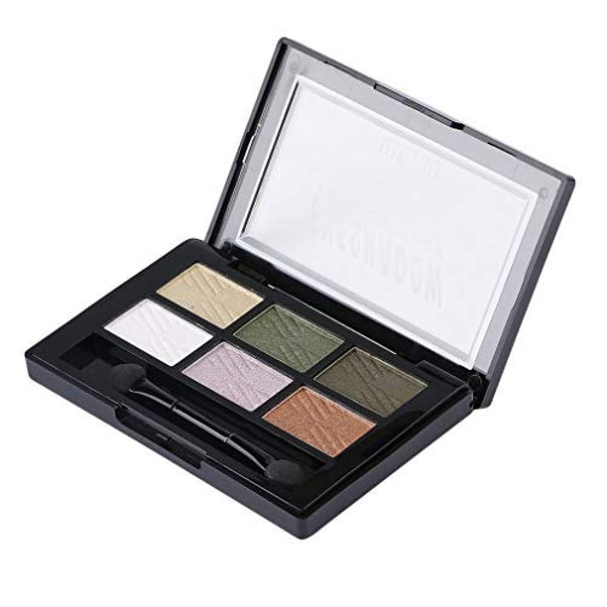 原因一定別の6色のアイシャドウパレットガールズファッション女性グリッターアイシャドウプロフェッショナルメイクアップスムーズな目化粧品1#