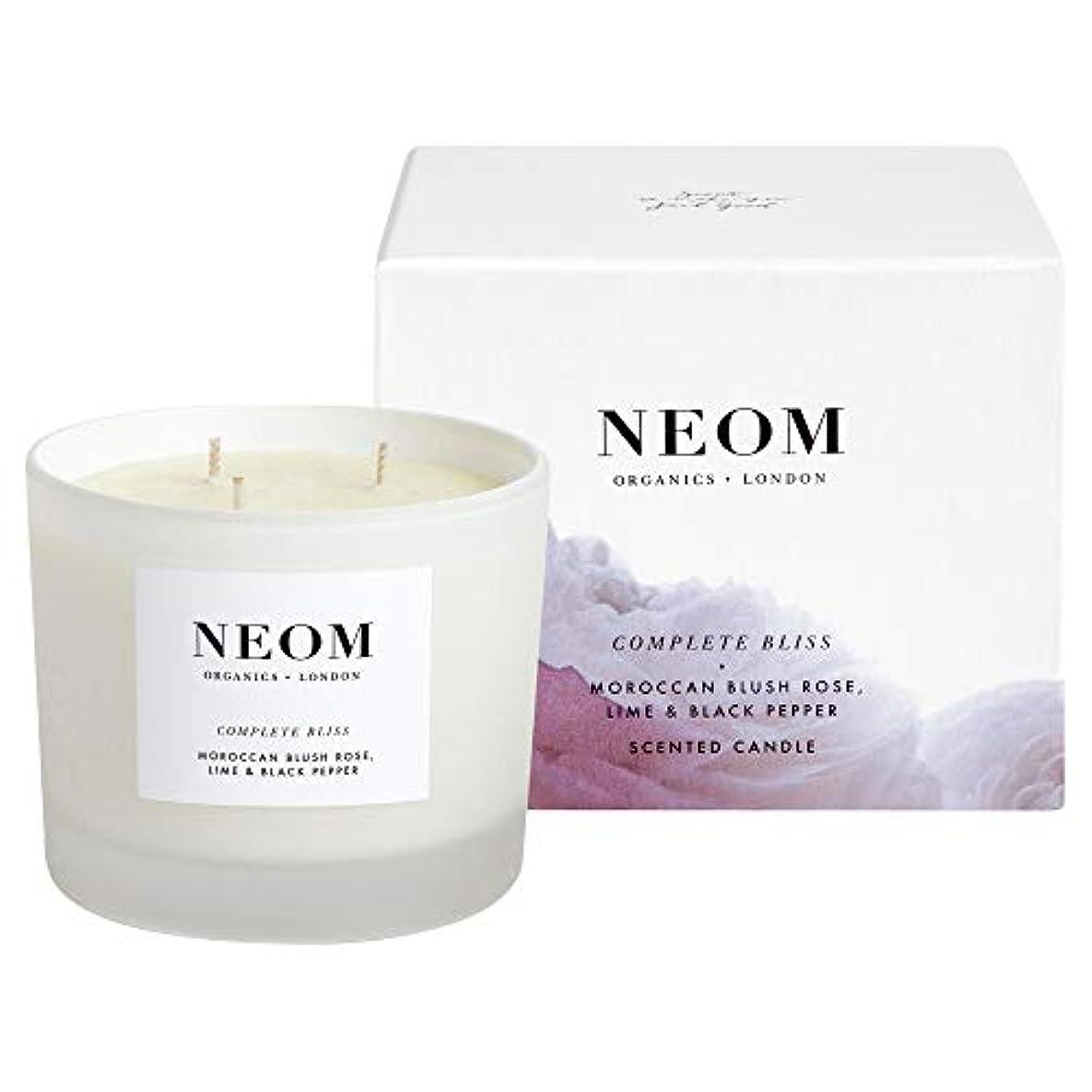 露鋸歯状雪だるま[Neom] Neom完全な至福3芯キャンドル420グラム - Neom Complete Bliss 3 Wick Candle 420g [並行輸入品]
