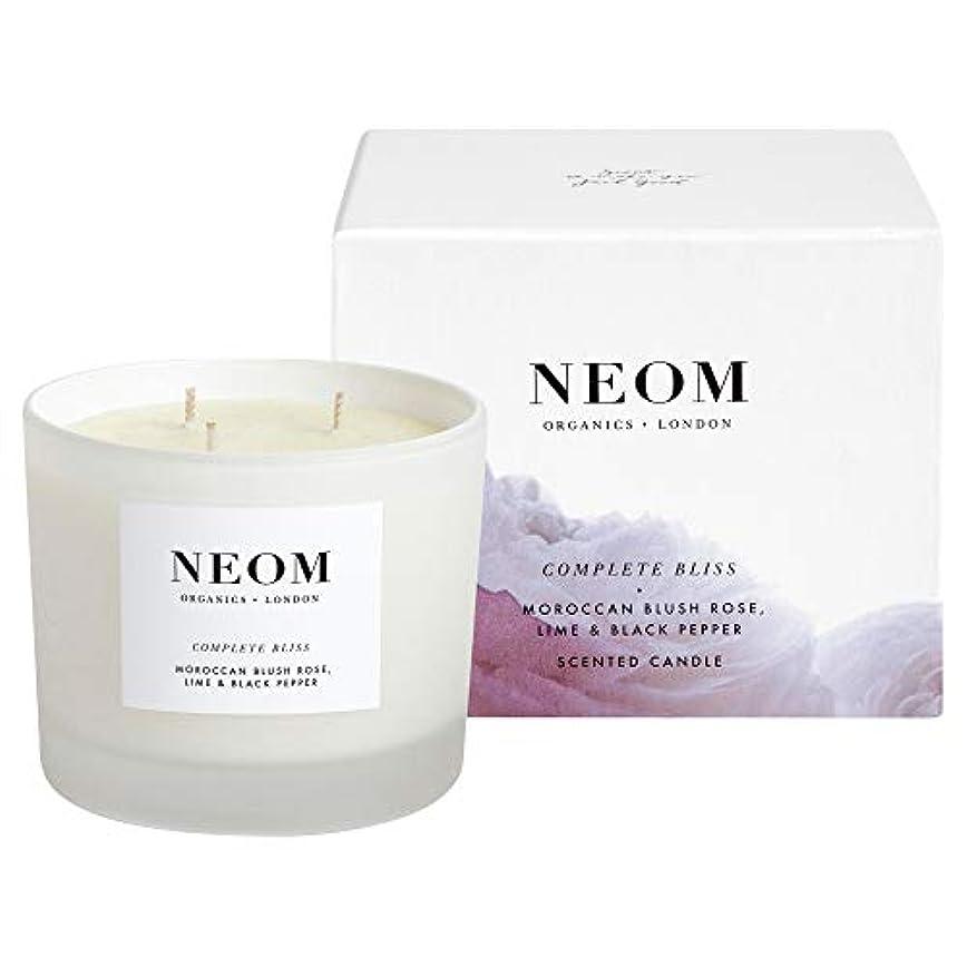 ことわざ要求する心配[Neom] Neom完全な至福3芯キャンドル420グラム - Neom Complete Bliss 3 Wick Candle 420g [並行輸入品]