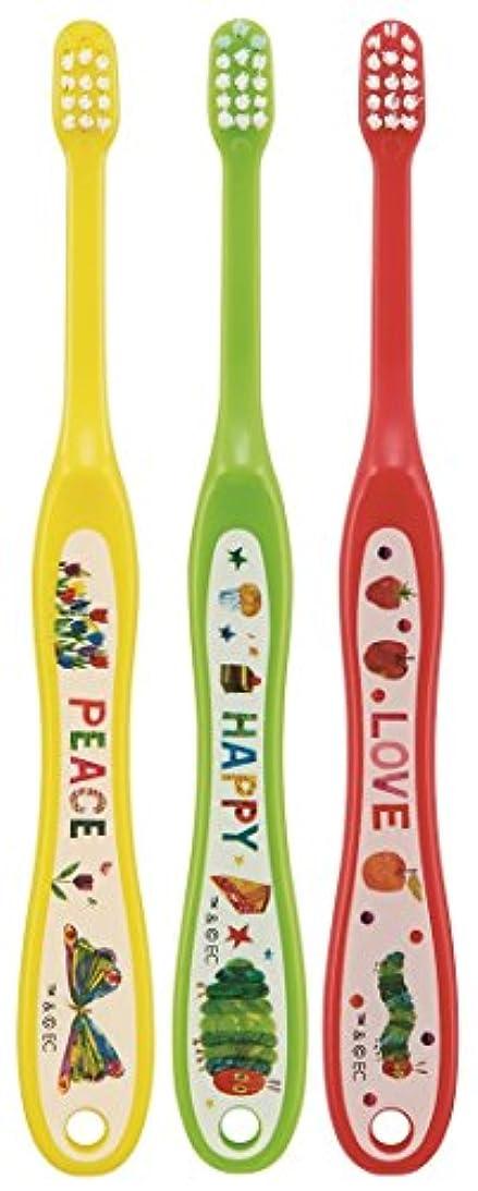 小道パーク動詞スケーター 歯ブラシ 乳児用 0-3才 毛の硬さ普通 3本組 はらぺこあおむし TB4T