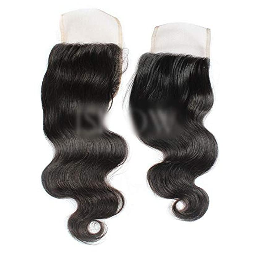 時間厳守立法現実的HOHYLLYA ブラジル実体波無料パート4×4レース前頭閉鎖人間の髪の毛の自然な黒い色(8インチ-20インチ)合成髪レースかつらロールプレイングかつらロングとショートの女性自然 (色 : 黒, サイズ : 10 inch)