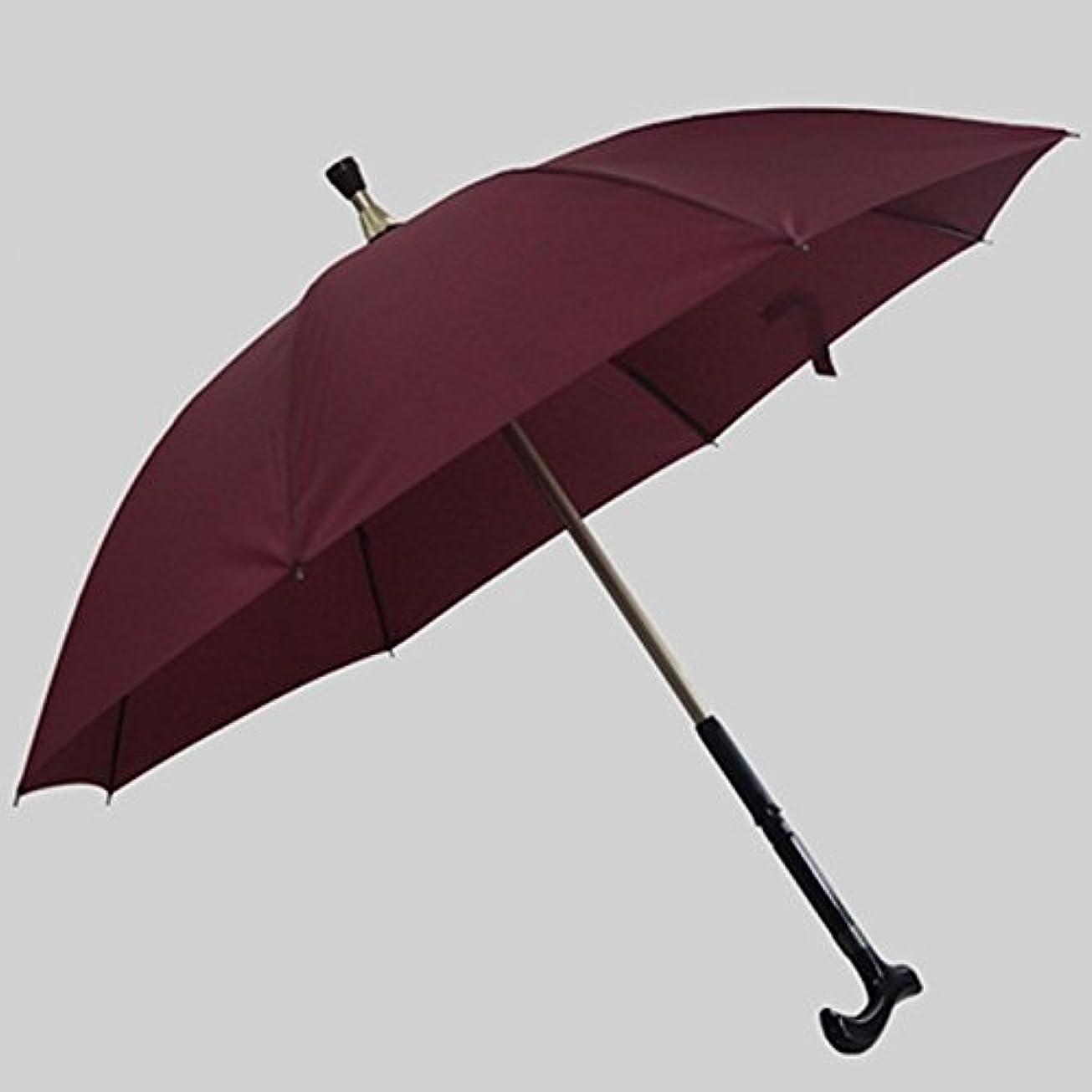 品種推測アピール松葉杖傘ノンスリップ耐摩耗性松葉杖傘二重使用傘クライミング傘多機能傘 (色 : ワインレッド)
