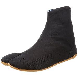 力王 祭り足袋 エアー足袋フィット 5枚コハゼ 黒 26.5cm ACF5