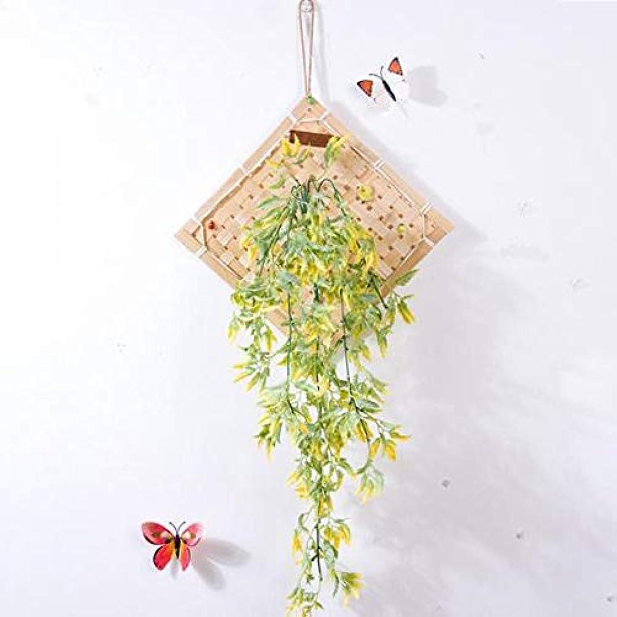 哲学者とげのある計算するKaiyitong01 風チャイム、クリエイティブ?竹ホームデコレーション風チャイム、パープル、幅38.5CM,絶妙なファッション (Color : Yellow)